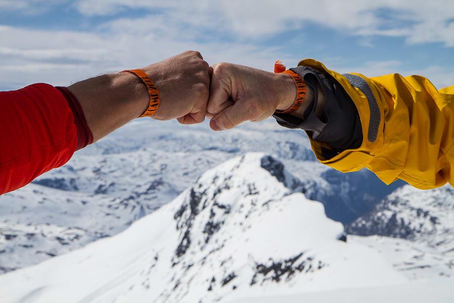 Fornøyde High Camp-deltakere på toppen! Foto: Martin I. Dalen