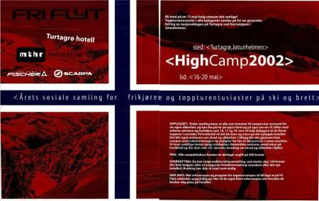 Slik ble 2002 utgaven av High Camp markedsført.