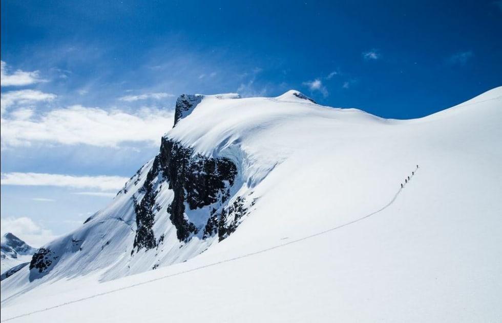 Toppen av Storebjørn nærmer seg